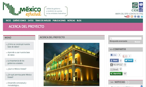 México Estatal, rendición de cuentas en las entidades