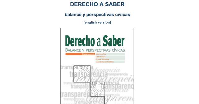 Derecho a Saber. Balance y Perspectivas Cívicas